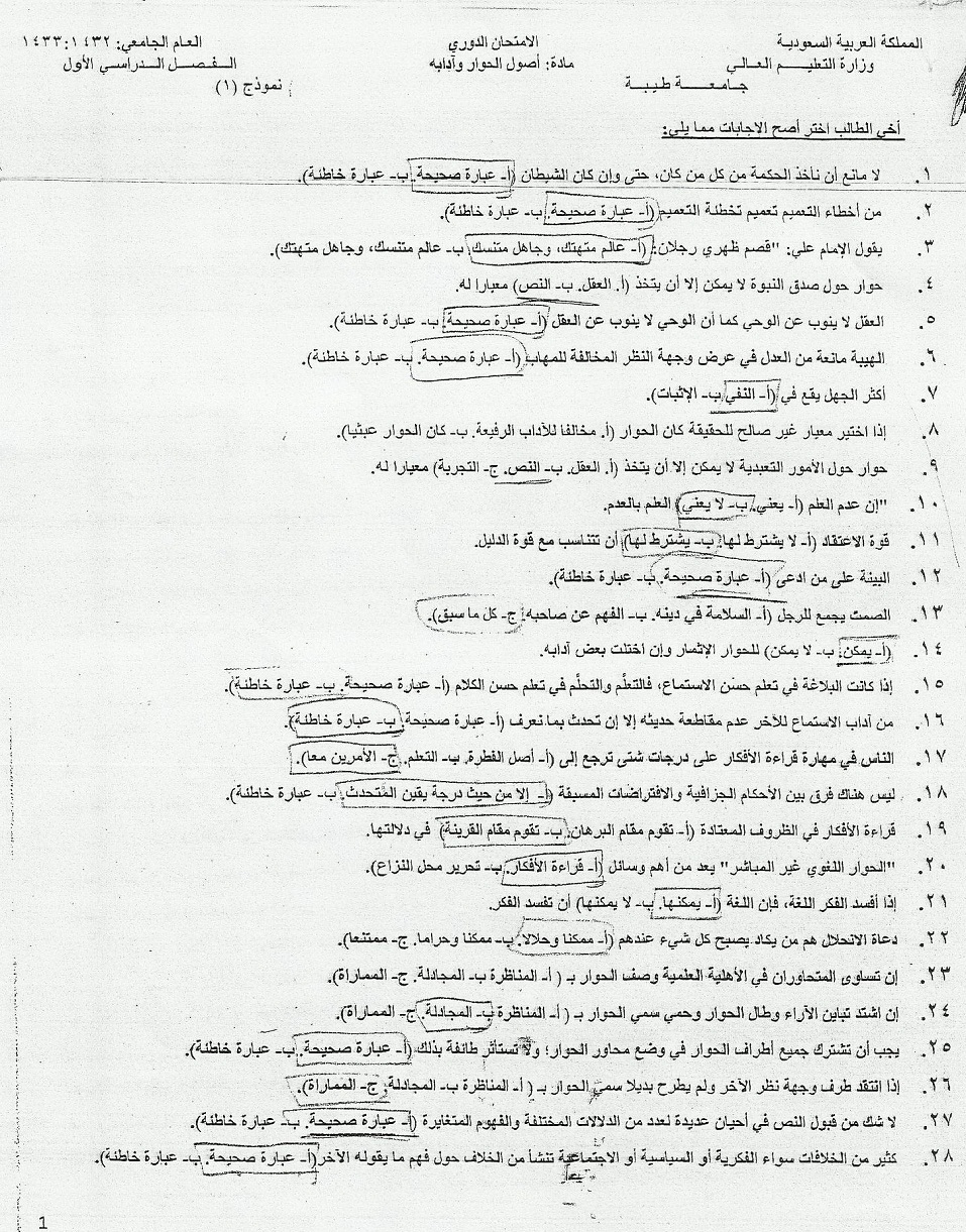 اسئلة اختبار مادة أصول الحوار آدابه الفصل الدراسي الأول 1433هـ 1901.jpg